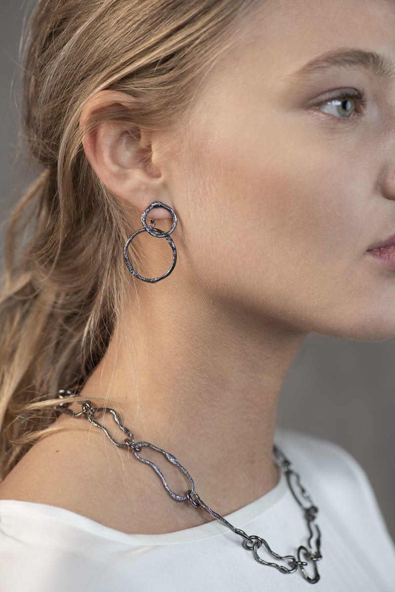Wabi Sabi Mingle earstick in silver
