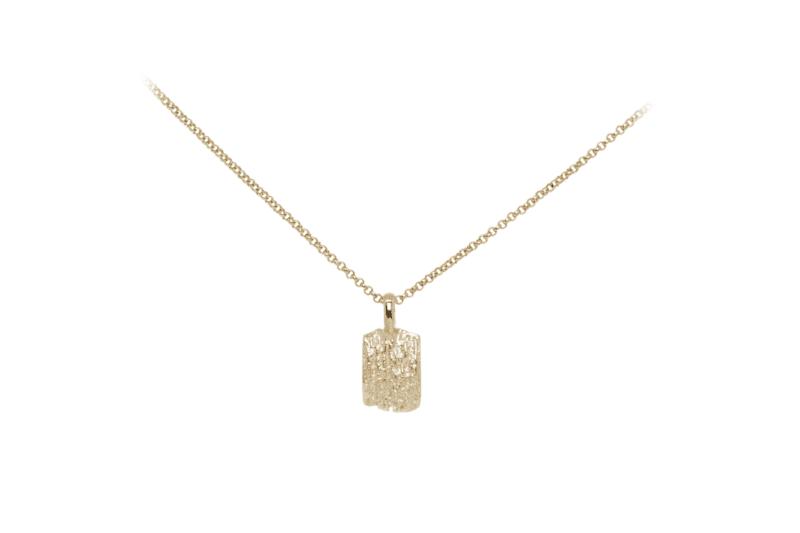 Wabi Sabi Fråst pendant in gold
