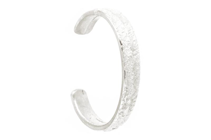 Wabi Sabi armcuff in silver