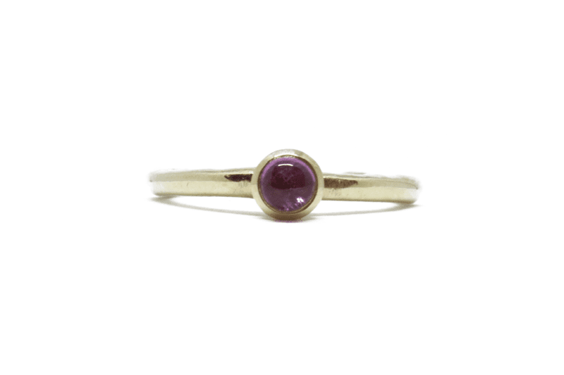 Wabi Sabi ring in gold with tourmaline