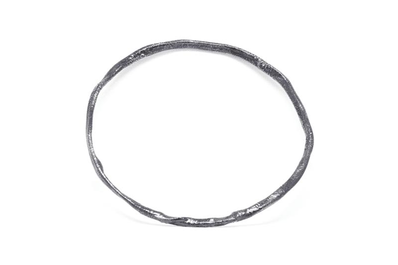 Wabi Sabi bracelet, armring in rhodiium plated silver