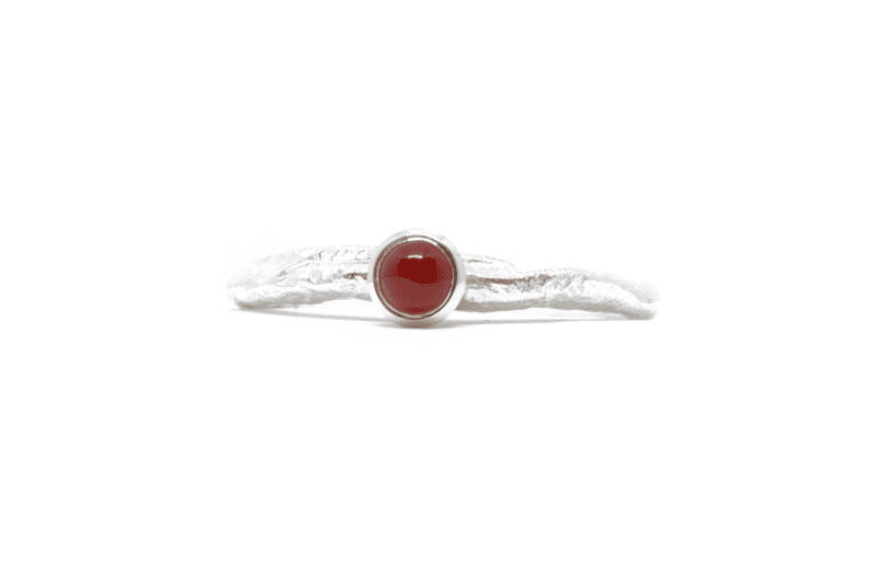 Wabi Sabi silver ring with a carneole