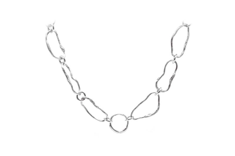Wabi Sabi collier in silver