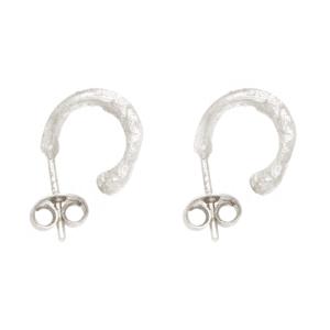 Wabi Sabi small hoops in silver