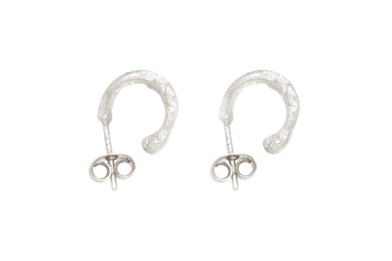 Wabi Sabi small hoops in silver