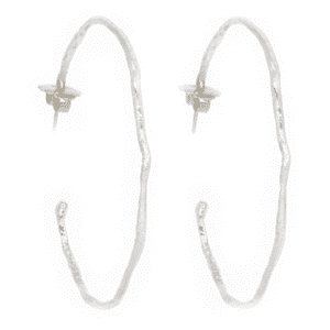 Wabi Sabi hoops in silver