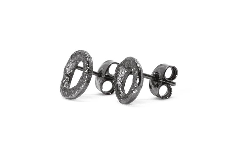 Wabi Sabi silver earstick rhodium plated