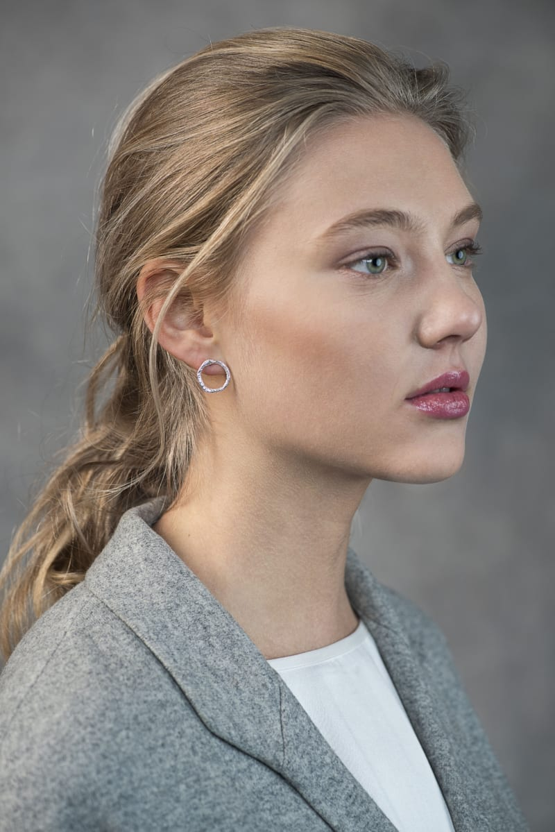 Mingle earsticks in silver