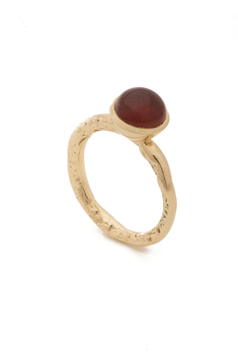 Gold ring with gemstone