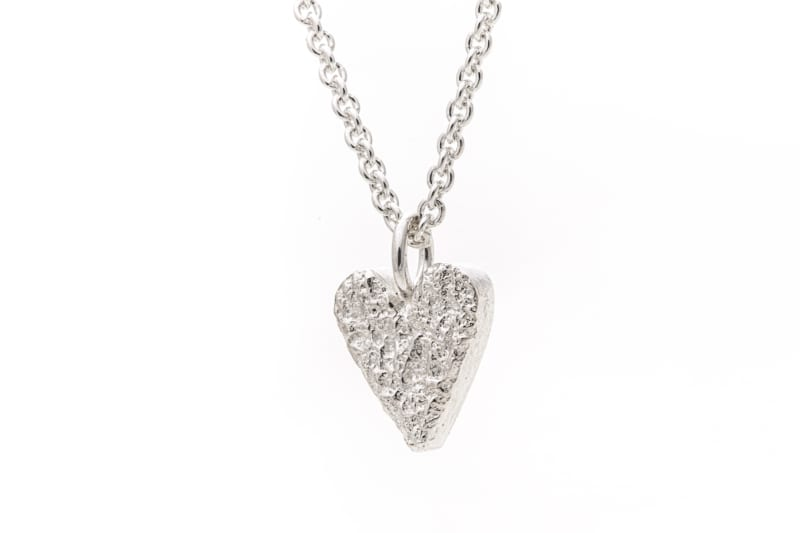 Heart pendant silver