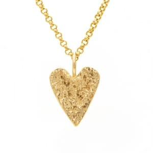 Heart pendant gold