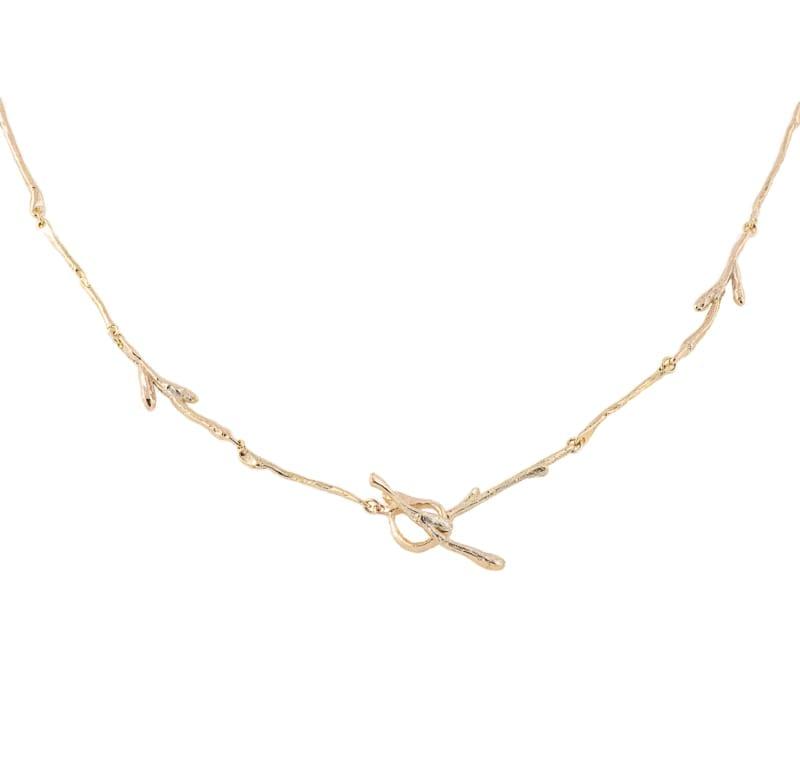 Gren collier in gold from Wabi Sabi