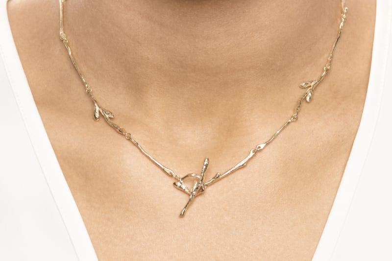 Grein collier in gold from Wabi Sabi
